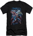 Justice League slim-fit t-shirt Cosmic Crew mens black