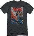 Justice League slim-fit t-shirt Crime Syndicate mens charcoal