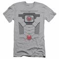 Justice League slim-fit t-shirt Cyborg Uniform mens silver