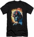 Justice League slim-fit t-shirt Darkseid Is mens black