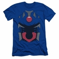 Justice League slim-fit t-shirt Darkseid Uniform mens royal blue