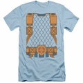 Justice League slim-fit t-shirt Deathstroke Uniform mens light blue