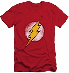 Justice League slim-fit t-shirt Destroyed Flash Logo mens red