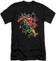 Justice League slim-fit t-shirt Electric Death mens black