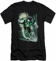 Justice League slim-fit t-shirt Emerald Energy mens black