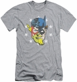 Justice League slim-fit t-shirt Face Off mens athletic heather
