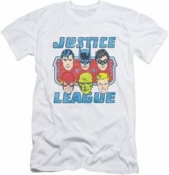 Justice League slim-fit t-shirt Faces Of Justice mens white