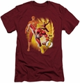 Justice League slim-fit t-shirt Flash Collage mens cardinal