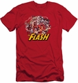 Justice League slim-fit t-shirt Flash Family mens red