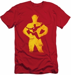 Justice League slim-fit t-shirt Flash Knockout mens red