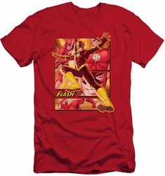 Justice League slim-fit t-shirt Flash mens red