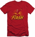 Justice League slim-fit t-shirt Flash Rough Distress mens red