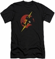 Justice League slim-fit t-shirt Flash Symbol Knockout mens black