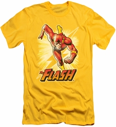 Justice League slim-fit t-shirt Flash Yellow mens yellow