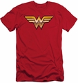 Justice League slim-fit t-shirt Golden mens red