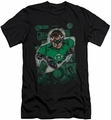 Justice League slim-fit t-shirt Green Lantern #1 Distress mens black