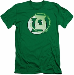 Justice League slim-fit t-shirt Green Lantern Energy Logo mens kelly green