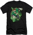 Justice League slim-fit t-shirt Green Lantern Energy mens black