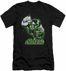 Justice League slim-fit t-shirt Green Lantern Green & Gray mens black