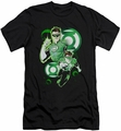 Justice League slim-fit t-shirt Green Lantern  In Action mens black