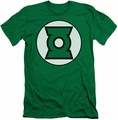 Justice League slim-fit t-shirt Green Lantern Logo mens kelly green