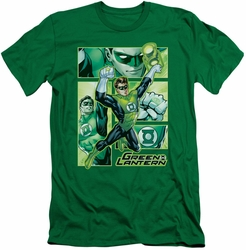 Justice League slim-fit t-shirt Green Lantern Panels mens kelly green