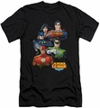 Justice League slim-fit t-shirt Group Portrait mens black