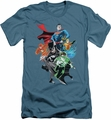 Justice League slim-fit t-shirt Group Shot mens slate