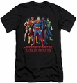 Justice League slim-fit t-shirt In League mens black