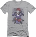 Justice League slim-fit t-shirt Jokers Daughter mens silver