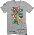 Justice League slim-fit t-shirt Justice Collage mens silver