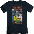 Justice League slim-fit t-shirt Justice For America mens navy