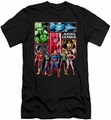 Justice League slim-fit t-shirt Justice League Panels mens black
