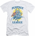 Justice League slim-fit t-shirt Let's Do This mens white