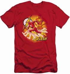 Justice League slim-fit t-shirt Lightning Fast mens red