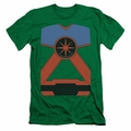 Justice League slim-fit t-shirt Martian Manhunter mens kelly green