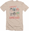 Justice League slim-fit t-shirt My Super Hero mens cream