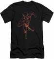 Justice League slim-fit t-shirt Neon Flash mens black