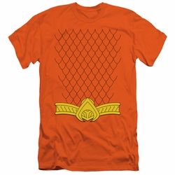Justice League slim-fit t-shirt New Aqua Uniform mens orange