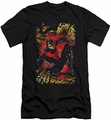 Justice League slim-fit t-shirt Nightwing #1 NEW 52 mens black