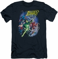 Justice League slim-fit t-shirt Onward mens navy