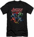 Justice League slim-fit t-shirt Pixel League mens black
