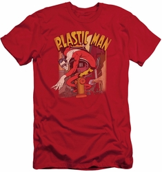 Justice League slim-fit t-shirt Plastic Man Street mens red