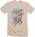 Justice League slim-fit t-shirt Pop Group mens cream/ivory
