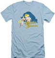 Justice League slim-fit t-shirt Portrait mens light blue
