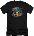 Justice League slim-fit t-shirt Ready To Fight mens black