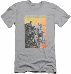 Justice League slim-fit t-shirt Red Dawn mens silver
