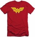 Justice League slim-fit t-shirt Rough Wonder mens red