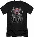 Justice League slim-fit t-shirt Shades Of Gray mens black