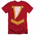 Justice League slim-fit t-shirt Shazam mens red